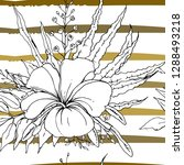tropical  modern stripes motif. ...   Shutterstock .eps vector #1288493218