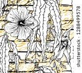 modern stripes jungle motif....   Shutterstock .eps vector #1288499578