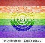 christmas lgbt colors emblem  | Shutterstock .eps vector #1288510612