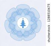 light blue money style rosette... | Shutterstock .eps vector #1288510675