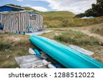 summer freedom camping  pouawa... | Shutterstock . vector #1288512022