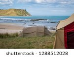 summer freedom camping  pouawa... | Shutterstock . vector #1288512028