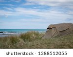 summer freedom camping  pouawa... | Shutterstock . vector #1288512055