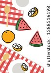 summer and tropical fruit for... | Shutterstock .eps vector #1288516198