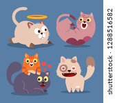 animals cartoon icons with cute ... | Shutterstock .eps vector #1288516582