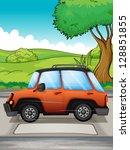 illustration of a running car | Shutterstock . vector #128851855
