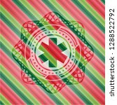 emergency cross icon inside... | Shutterstock .eps vector #1288522792
