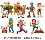 set of farmer character...   Shutterstock .eps vector #1288524682