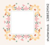 floral greeting card and... | Shutterstock .eps vector #1288529542