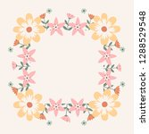 floral greeting card and... | Shutterstock .eps vector #1288529548