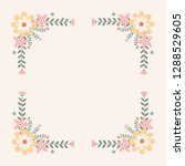floral greeting card and... | Shutterstock .eps vector #1288529605