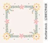 floral greeting card and... | Shutterstock .eps vector #1288529608