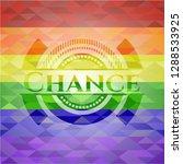chance lgbt colors emblem  | Shutterstock .eps vector #1288533925