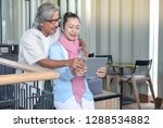 old age  technology and people... | Shutterstock . vector #1288534882