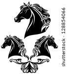 Horse Head Vector Design  ...