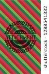 attachment christmas badge. | Shutterstock .eps vector #1288541332