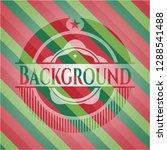 background christmas badge. | Shutterstock .eps vector #1288541488
