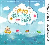 cute baby shower flyer or... | Shutterstock .eps vector #1288542592