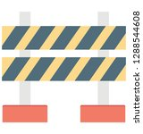barrier color vector icon... | Shutterstock .eps vector #1288544608