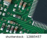 close up electronics parts on... | Shutterstock . vector #12885457
