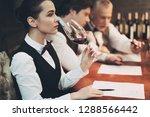 experienced sommelier woman... | Shutterstock . vector #1288566442