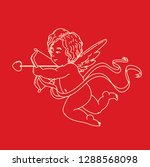 cupids  the symbol of love ... | Shutterstock .eps vector #1288568098