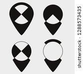 map pin icons  original... | Shutterstock .eps vector #1288573435