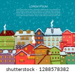 christmas city. cartoon design. ... | Shutterstock .eps vector #1288578382