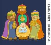 three kings group | Shutterstock .eps vector #1288578955