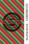 northern christmas style badge.. | Shutterstock .eps vector #1288580155