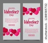 valentine's day sale discount... | Shutterstock .eps vector #1288585732