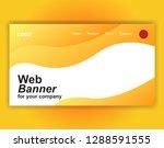 website landing page wave... | Shutterstock .eps vector #1288591555