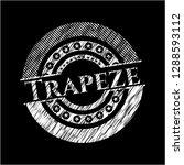 trapeze chalk emblem written on ... | Shutterstock .eps vector #1288593112