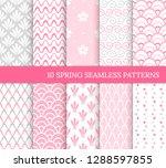 ten spring seamless patterns.... | Shutterstock .eps vector #1288597855