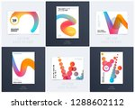 design of brochure smooth soft... | Shutterstock .eps vector #1288602112