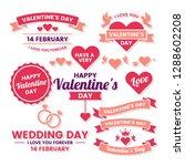 wedding retro vintage vector... | Shutterstock .eps vector #1288602208