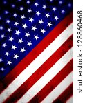 illustrated angled flag of the... | Shutterstock . vector #128860468