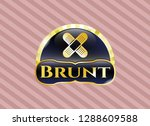 gold shiny badge with crossed... | Shutterstock .eps vector #1288609588