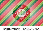 buildings icon inside christmas ... | Shutterstock .eps vector #1288612765
