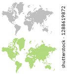 world dotted map | Shutterstock .eps vector #1288619872