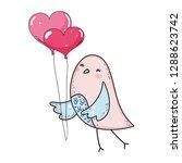 cute little bird with balloons... | Shutterstock .eps vector #1288623742