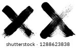 x marks .handwritten letter .... | Shutterstock .eps vector #1288623838