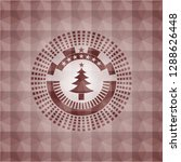 christmas tree icon inside red... | Shutterstock .eps vector #1288626448