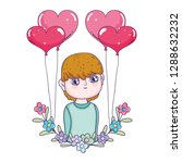 young cute lover boy with... | Shutterstock .eps vector #1288632232