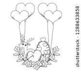 cute love reindeer with... | Shutterstock .eps vector #1288633858