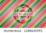 free membership christmas badge. | Shutterstock .eps vector #1288635592