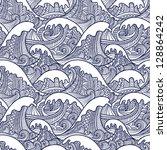 sea seamless pattern | Shutterstock .eps vector #128864242
