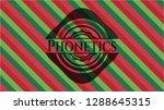 phonetics christmas emblem... | Shutterstock .eps vector #1288645315