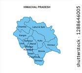 himachal pradesh map graphic  ... | Shutterstock .eps vector #1288646005