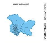jammu and kashmir map graphic   ... | Shutterstock .eps vector #1288648048